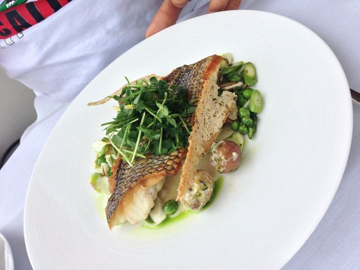 Asiate - New York, NY, United States. #tilapia with #gourmet #greens