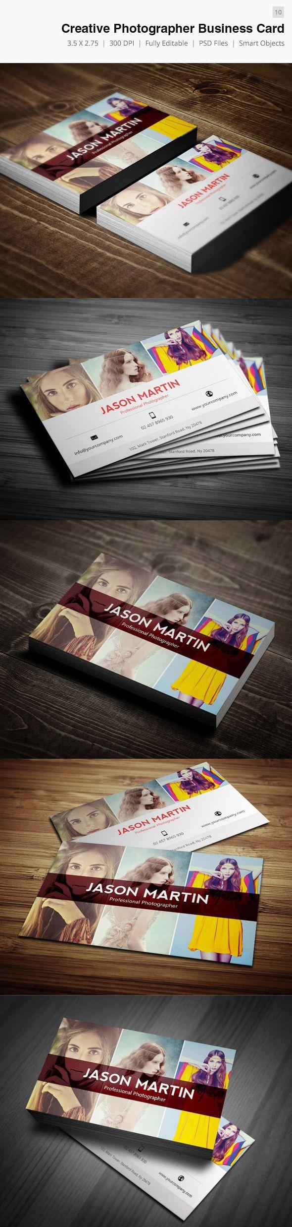 Creative Photographer Business Card by Bouncy Studio, via Behance