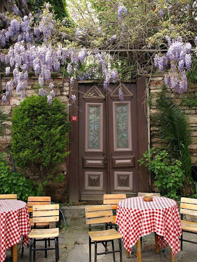 Wisteria and Pierre Loti coffee house, Eyup, Istanbul, Turkey. -  Photo by Rezzan Akın.