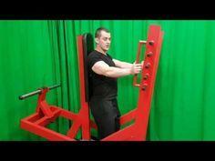 Standing Chest Press Machine Plate Loaded A6 Youtube Press Machine Diy Gym Equipment The Secret Book