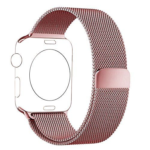 BRG Apple Watch Band 38mm Milanese Loop Stainless Steel Bracelet Strap Replacement Wrist iWatch Band with Magnet Lock for Apple Watch - Original Rose Gold
