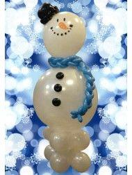 Снеговик снеговичок из воздушных шаров шариков оформление нового года воздушными шарами воздушные-шарики.укр