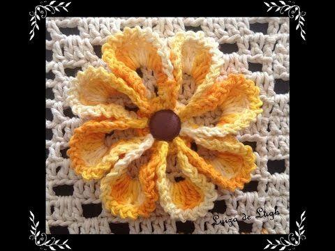 Flor em Crochê para Aplicação - YouTube