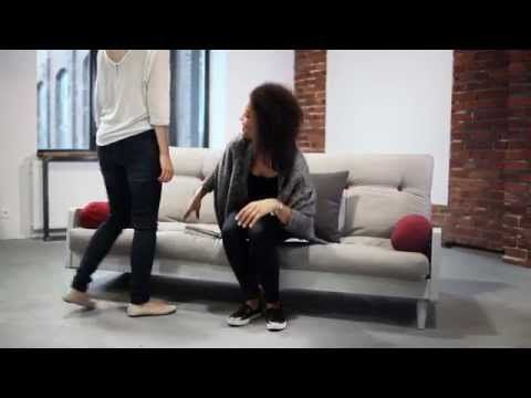 Rozkládací sofa Indie, vision/clear | Bonami