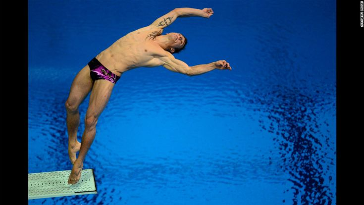 London Olympics Day 11: France's Matthieu Rosset competing in the men's 3-meter springboard semifinals