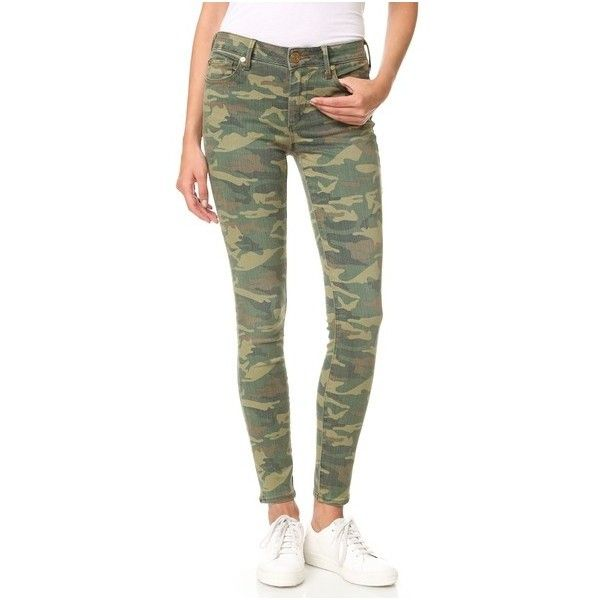 True Religion Halle Mid Rise Super Skinny Jeans (3,420 MXN) ❤ liked on Polyvore featuring jeans, distressed camo, ripped skinny jeans, skinny fit jeans, denim skinny jeans, skinny jeans and camo jeans