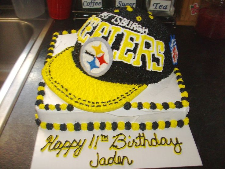 105 best Pittsburgh Steelers Birthday Cakes images on Pinterest