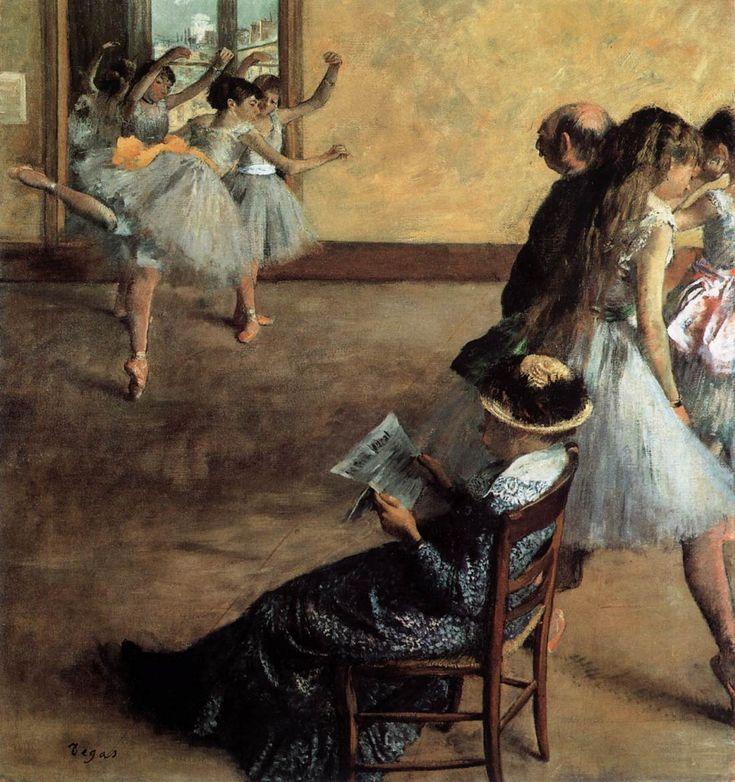Ballet Class (1881). Edgar Degas (French, 1834-1917). Oil on canvas. Philadelphia Museum of Art.