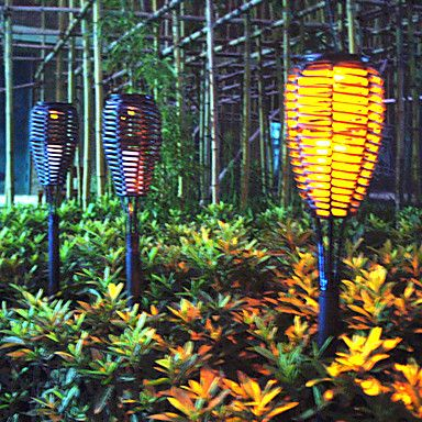 Nice PCS Super Bright Yellow LED Waterproof Solar Powered Garden Lamp