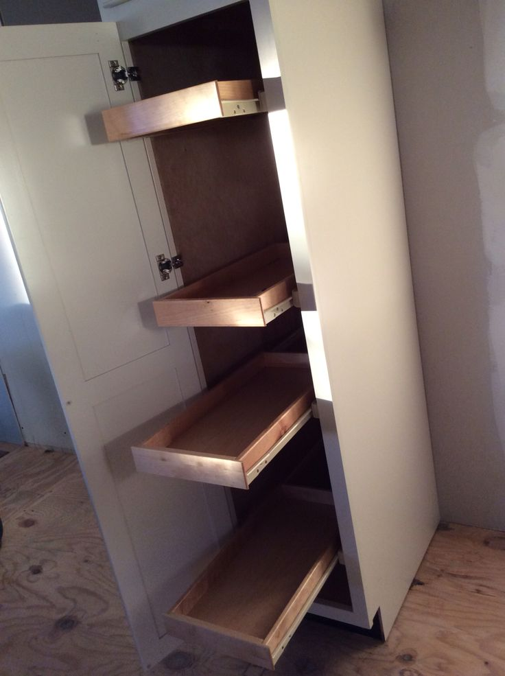 In a mobile home storage space is at high demand. This pantry cabinet was great.