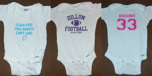 Friday Night Lights onesies... anybody want to have a baby?
