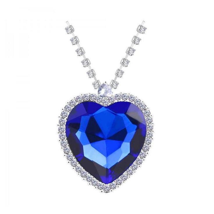 Cheap mothers day gift, Buy Quality blue necklace directly from China mothers day Suppliers: N395 Titanic Heart Blue Necklace Nickel Free Luxury Full Zircon Neckless 2017 New Arrival Silver Jewelry Mother's Day Gift
