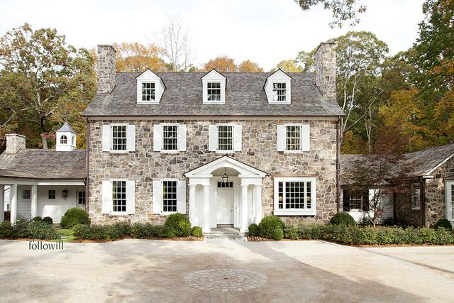 My absolutely most favorite exterior. Even though this house is in Atlanta, it's design reflects those stone houses we find in PA.