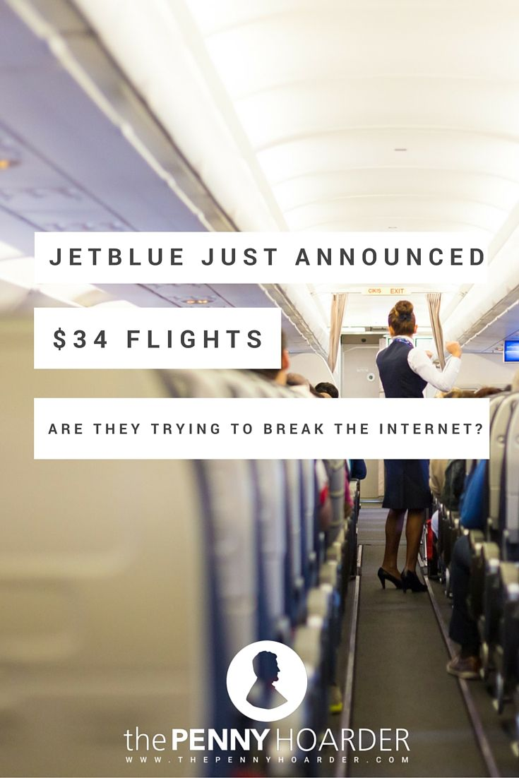 Even if you're not flush with cash, you can afford a vacation -- if you act fast! Take advantage of JetBlue flights right now starting at $34. - The Penny Hoarder http://www.thepennyhoarder.com/jetblue-flights-cheap-airline-tickets/