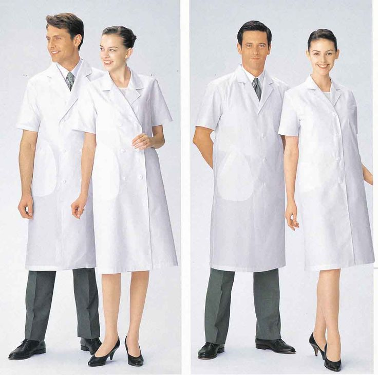 We wore white,all white,hose,caps and clinic shoes,but I have never seen a short sleeve,long lab coat like this one for men..??