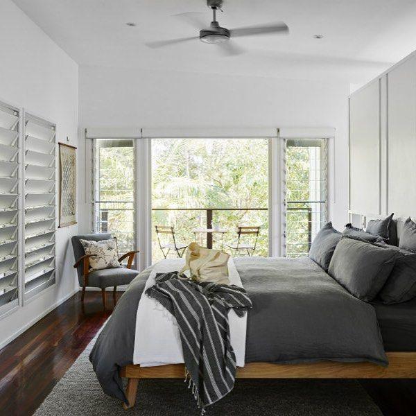 Master bedroom = Sweet dreams #threethree #yaroomba #holidayhouse #stayhere #sunshinecoast #coolum