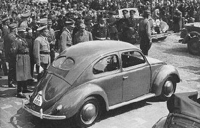 "Germany. Hitler introduces Ferdinand Porsche's ""Volkswagen"", February 26, 1936   | ... drawn by Adolf Hitler and given to Ferdinand Porsche in 1934"