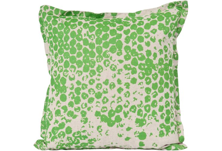 Put fabric paint on bubble wrap then stamp fabric for accent pillows!