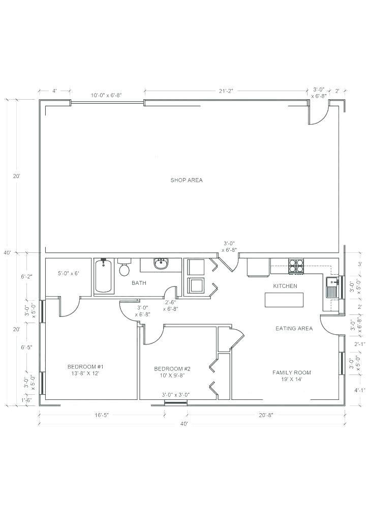 shop plans 40x60 best of shop house plans and house shop ...