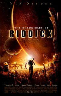 """The Chronicles of Riddick""  5 years after Pitch Black, the wanted criminal Riddick arrives on a planet called Helion Prime, and finds himself up against an invading empire called the Necromongers, an army that plans to convert or kill all humans in the universe."