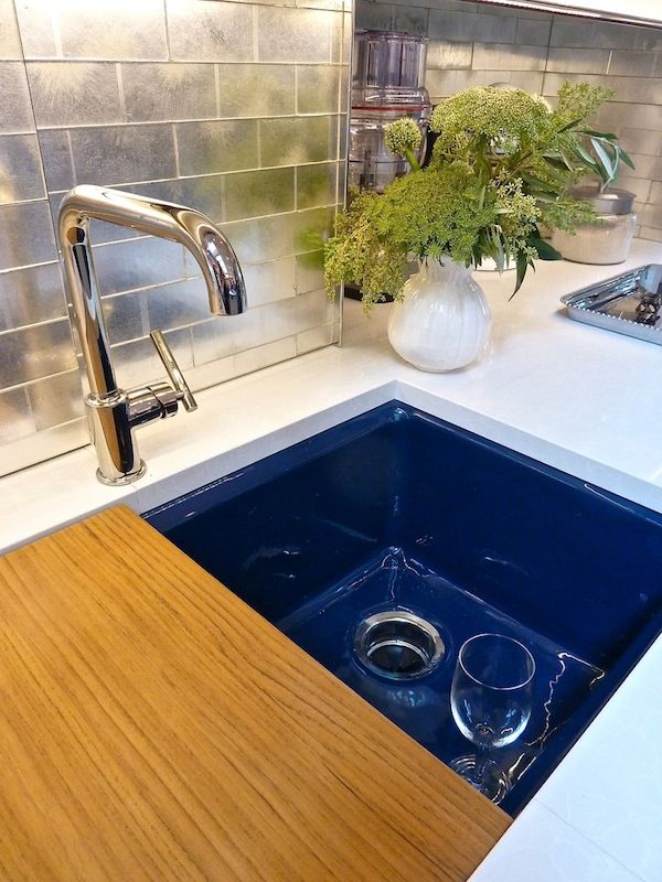 17 best images about modern blue bath on pinterest mosaic floors tile and blue tiles - Jonathan adler sink ...