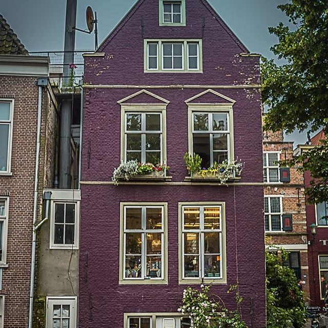 PHOTO: Houses in Volendam, The Netherlands.