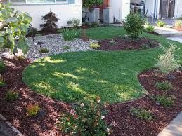 Similar to one of the others - make the plants a border on all sides and make the grass into interesting shapes instead of squares