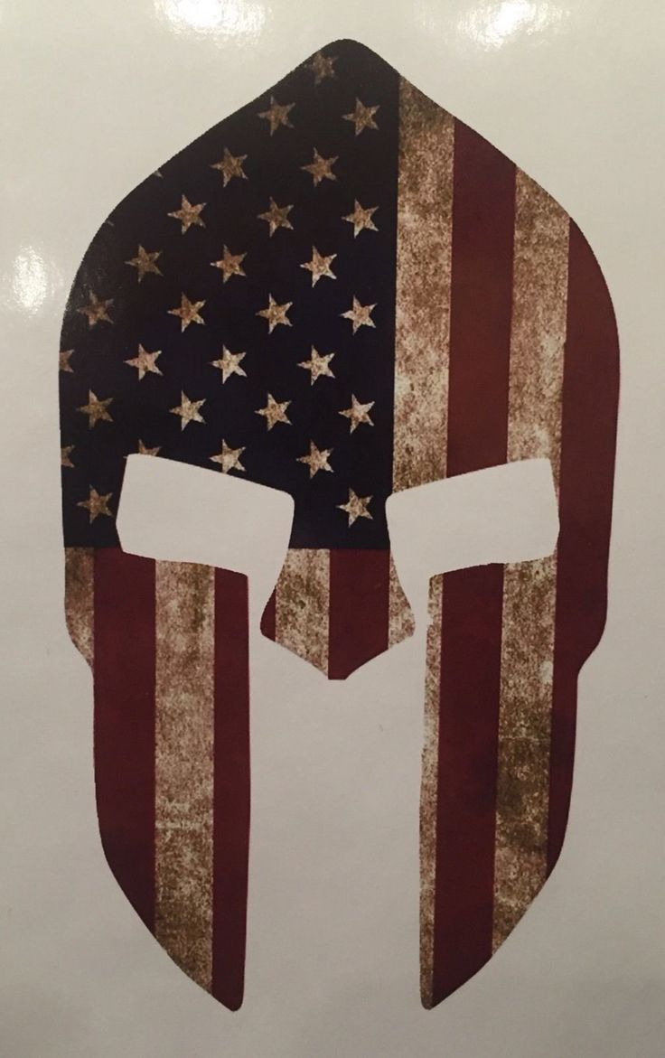 "6"" SPARTAN MOLON LABE American Flag shape die cut vinyl color decal sticker"