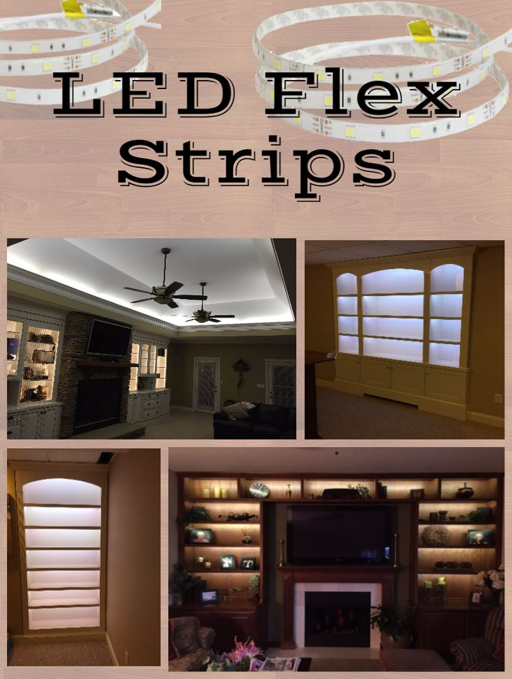 LED Flex Strips for a variety of Home Applications: Accent lighting, Cove lighting, Shelf lighting, etc.