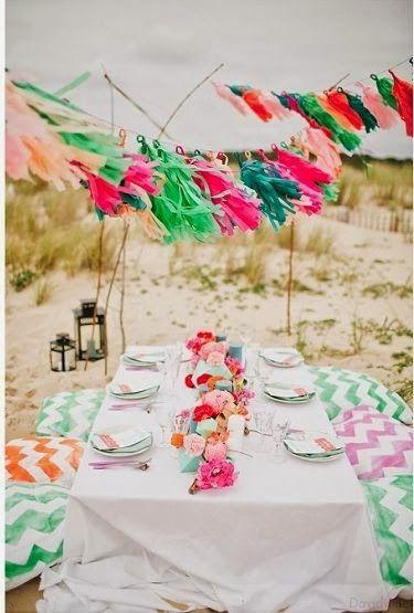 Cute! Dineren op het strand
