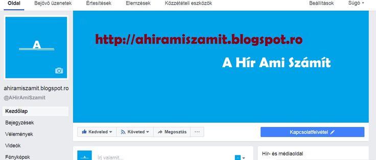 Még több tartalmat találtok a facebok fiokunkon itt ide kattintva éritek el   https://www.facebook.com/AHirAmiSzamit/