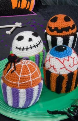 "Free pattern for ""Scary Muffins""...no need to buy fresh from year to year!"