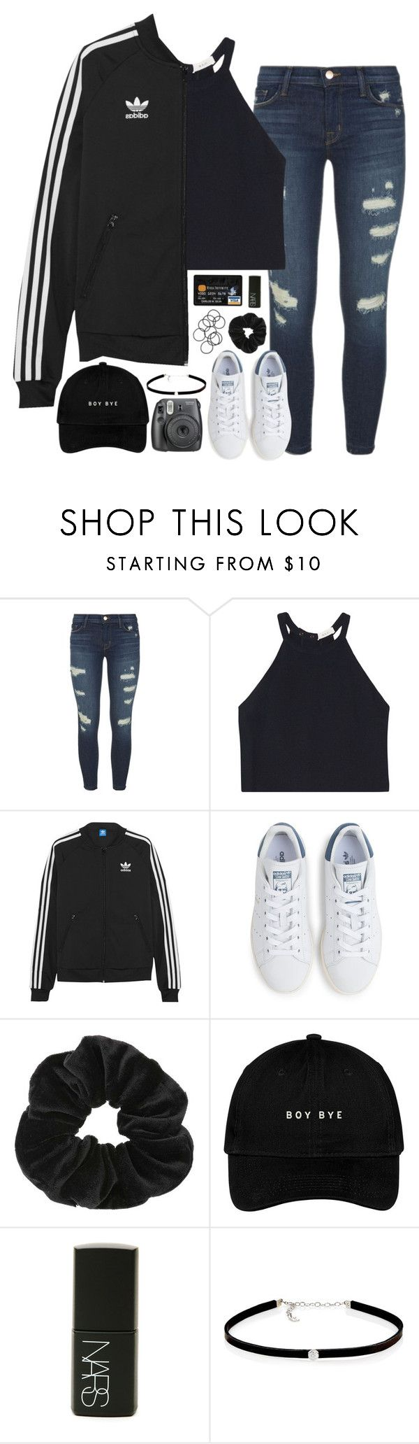"""""""can't wait for grey's anatomy!!"""" by sarahc01 ❤ liked on Polyvore featuring J Brand, A.L.C., adidas Originals, adidas, Miss Selfridge, NARS Cosmetics, Carbon & Hyde, Fujifilm and H&M"""