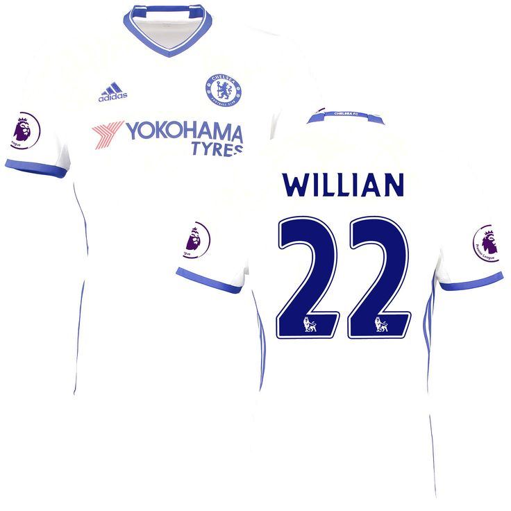 Willian Borges da Silva Chelsea adidas 2016/17 Third Replica Patch Jersey - White - $114.99