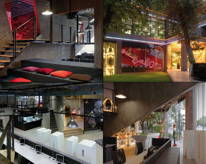 Ogilvy & Mather's Guangzhou office is circus-themed. Truly FUN to work in we bet!