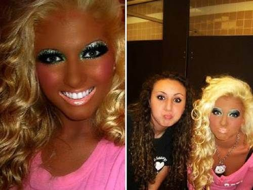Blissfully unaware that you are orange. Epic tanning fails! lol