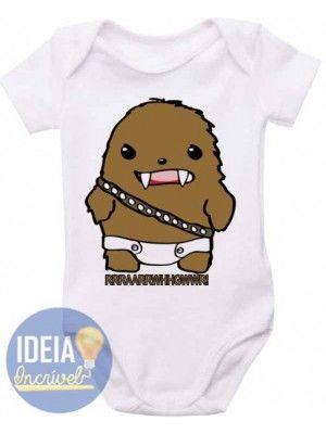 Body Infantil - Chewbacca - Star Wars