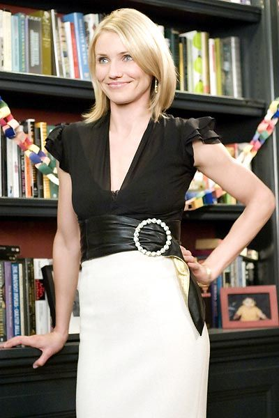 cameron diaz in the Holiday: Outfits, Fashion, Camerondiaz, Style, Movie, Pencil Skirts, Cameron Diaz The Holidays, Hair, Belts