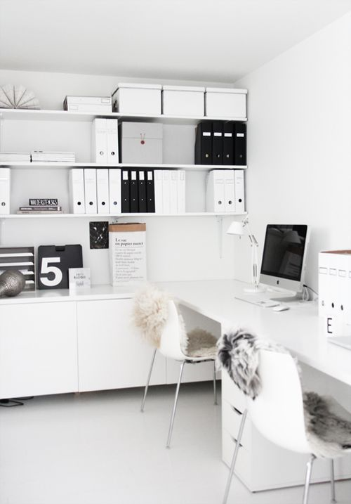 Monochrome office - photo and styling by Elisabeth Heier