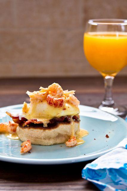 Crawfish Eggs Benedict | foodie bride