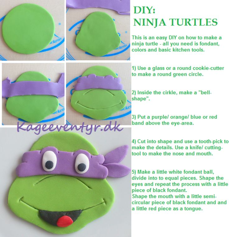 Diy Ninja Turtles  on Cake Central