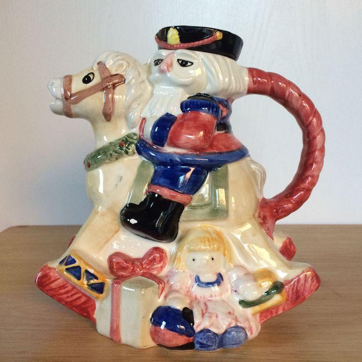 World Bazaars Inc. Christmas Nutcracker Teapot Rocking Horse Multicolor #WorldBazaarsInc