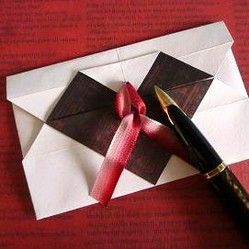 Origami Heart Envelope Design Tutorial and Instructions