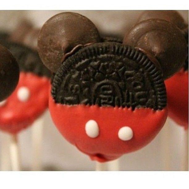 Mickey Oreo lolipops #mickey #disney #oero #lolipop