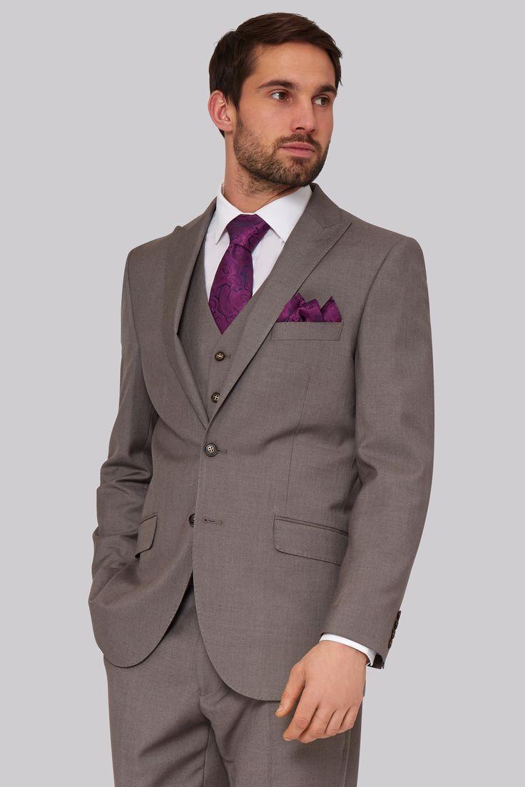 Moss Esq. Regular Fit Neutral Jacket