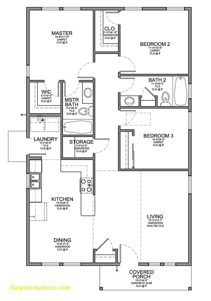 3 Bedroom 2 Bath Small House Plans - House For Rent Near ...
