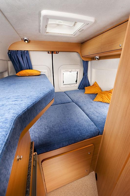 Sprinter Camper Van >> Sleeping area Swan4 Camper Van | Camper van | Pinterest ...