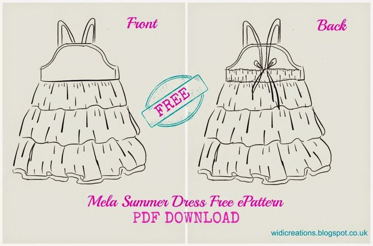 WIDI | Sewing blog | Step by Step instructions | Tutorials: Summer dress free Pattern