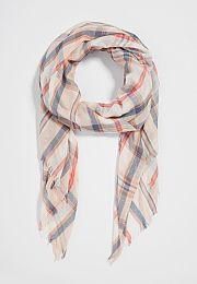 plaid scarf with metallic stitching - maurices.com