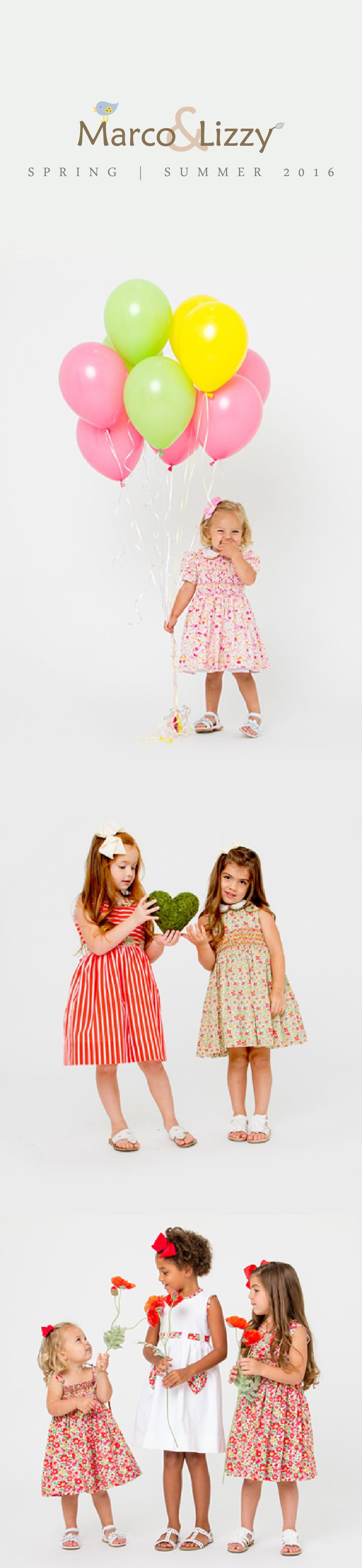 SPRING IS BLOOMING!  Fine quality children's smocked dresses, Jumper sets & more! Only at www.marcoandlizzy.com